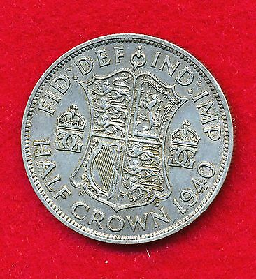 Great Britain 1940 1/2 CROWN  .2273 ounce of SILVER!