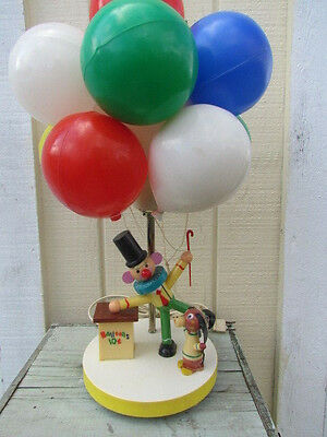 Vintage Clown and Dog Balloon Lamp