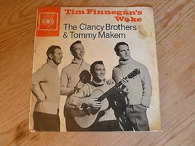 The Clancy Brothers & Tommy Makem vinyl EP Tim Finnegans Wake plays VG AGG320046