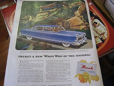 "1952 Nash Car Ad There's A New  ""Who Who "" of the highway"