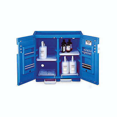 "Polyethyl Acid Under Counter Cabinet - 2 Door - 36""W x 25""D x 35""H 1 ea"