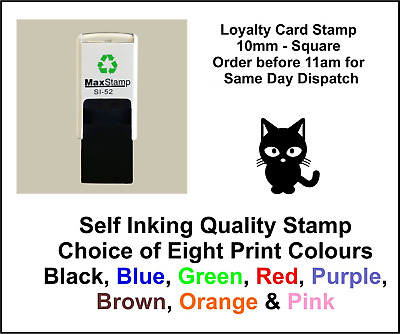 Pussy Cat Loyalty Card Stamp Professional Quality Self Inking 10mm FREE POST