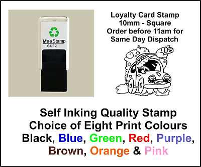 Car Wash Loyalty Card Stamp Professional Quality Self Inking 10mm FREE POST