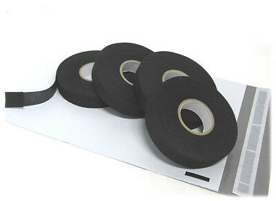 """(4) 3/4"""" x 82 ft Rolls Adhesive Cloth Fabric Tape for Cable Looms Wiring Harness"""