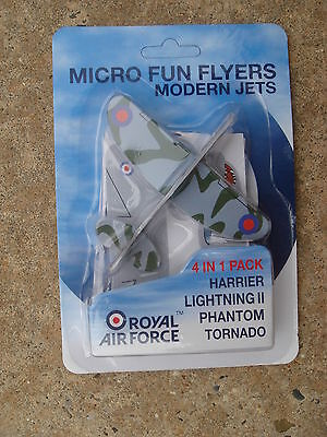 Royal Air Force Foam Micro Glider Flyiers set of 4 Modern Jets