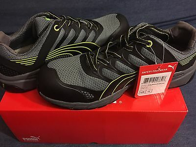 PUMA SAFETY SHOES 642525 Composite Toe, Gray, Mens, SIZE 11