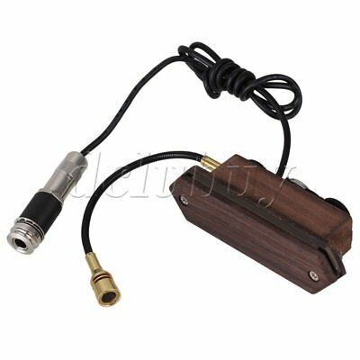 Rosewood Magnetic Dual Coil Soundhole Pickup with Microphone for Acoustic Guitar
