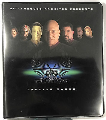 Star Trek Nemesis 2002 Binder with Basic Card Set Plus Quotables and many more!