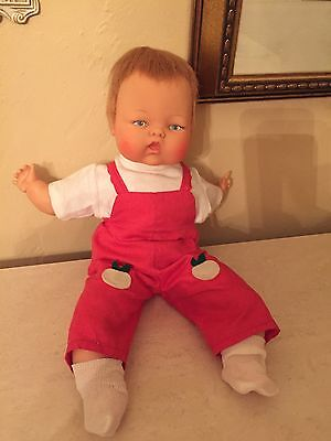 "Vintage 14"" Tiny Thumbelina Original Ideal Doll And Outfit WORKING!"