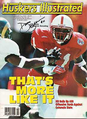 Signed Huskers Illustrated by Damon Benning of the Nebraska Cornhuskers
