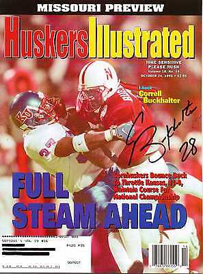 Autographed Huskers Illustrated by Correll Buckhalter Nebraska Cornhuskers