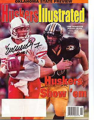 Huskers Illustrated Signed by 2001 Heisman Eric Crouch Nebraska Cornhuskers