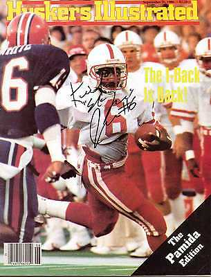 "Signed Huskers Illustrated by Keith ""End Zone"" Jones of the Nebraska Cornhuskers"