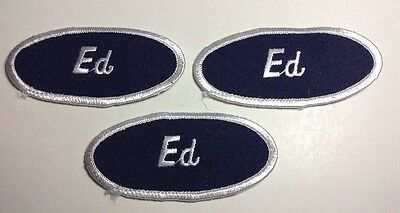ED EMBROIDERED SEW ON NAME PATCH LOT OF 3 ~ NAME TAG