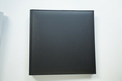 Pinetti black leather photo album with stitching (dry mount) 33cm x 33cm