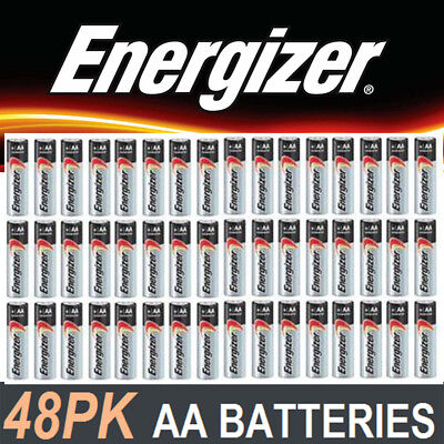 Duracell Energizer AA Batteries x 48 pack New Genuine Alkaline Dura Lock Power