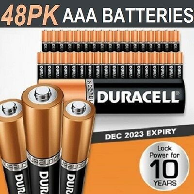 Duracell AAA Batteries x 48 pack New Genuine Alkaline Dura Lock Power 10 Years