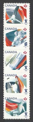 xca. Vancouver 2010 OLYMPIC booklet DIE CUT strip of 5 MNH Canada 2009 #2300-04