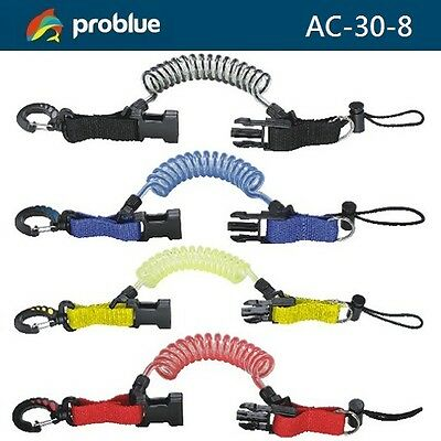 Problue Snap Shock Line AC-30-8 Coiled Quick Release Buckle Dive Gear - AU
