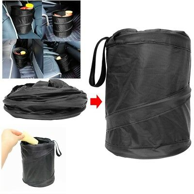 Foldable Car Dust Bin Storage Bucket Trash Can Container Rv Pop Up Garbage Bag