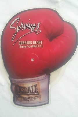 SURVIVOR Burning Heart (Rocky IV)  UK 85 PIC DISC VINYL SHAPE BOXING !!!