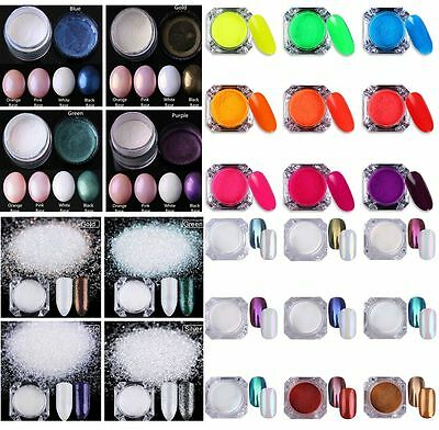 Nail Art Glitter Powder Dust For UV Gel Shining Pigment Manicure Decoration