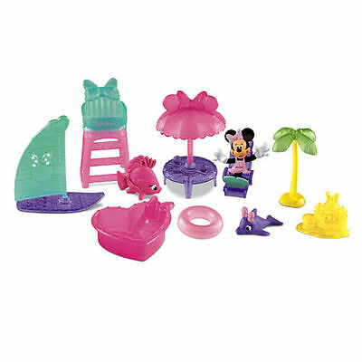 Minnie Mouse Bow-tique Beach Park & Figure - Fisher Price - Y1988 - NEW