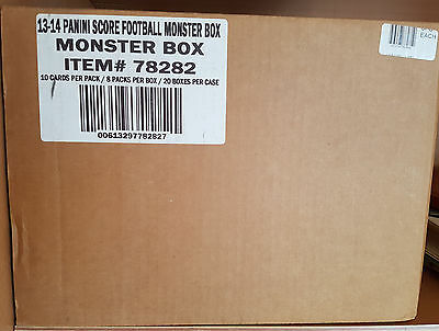 CASE 20x NFL Score MONSTER Box 2013 Football Trading Card OVP SEALED