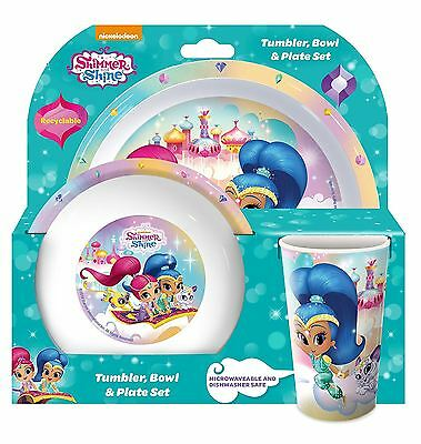 Shimmer and Shine 3 Piece Tumbler Bowl and Plate Set