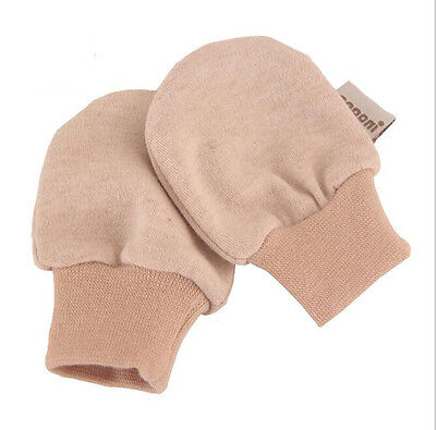 Newborn Baby 100% Natural Organic Cotton Safety Anti-scratch Mittens 0 -4 Month