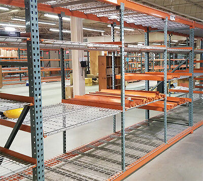 Used Teardrop Pallet Rack Shelving - Medium Duty 20 sections available.