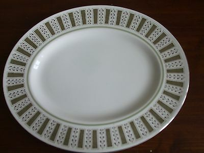 "Susie Cooper Persia Pattern Bone China Oval 13 x 10"" Platter C2019 England"