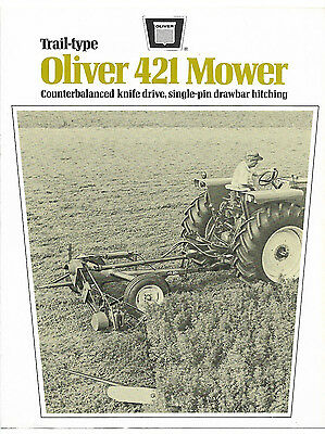 Oliver 421 Trail-Type Mower Brochure