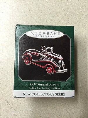 Hallmark Miniature Christmas Ornament NIB 1937 Steelcraft Auburn 1998