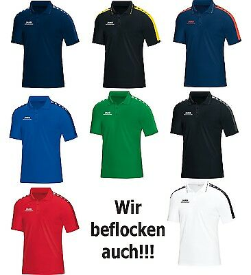 JAKO Striker Herren / Kinder Polo Poloshirt mit Flock optional 6316