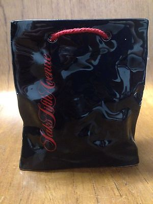 Saks Fifth Avenue Paper Bag Form Display By Carlton Ware Pottery England