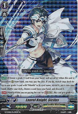 CARDFIGHT VANGUARD CARD: LAUREL KNIGHT, SICILUS - G-CHB01/Re01EN Re