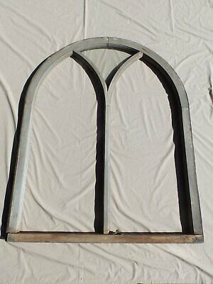 Large Antique Arch Dome Window Gothic Shabby Cottage Chic Vintage 224-17R