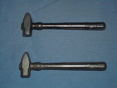 2- Vintage Dairy Maid advertising miniature metal Sledge Hammer's hard candy