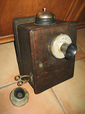 Vintage  Heavy  Wall Crank Phone Telephone , AS IS