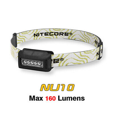 NiteCore NU10 USB Rechargeable White & Red LED Dual Light Headlamp + Battery