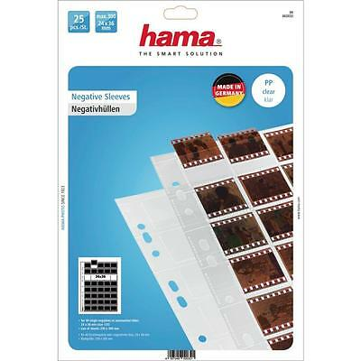 Hama 25 Polypropylene Negative Unmounted Slide Sleeves 40 Negatives 35Mm 2032