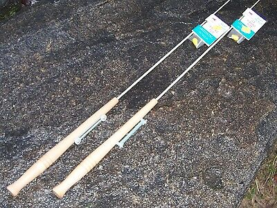 2 Vintage Ice Fishing Rod Jiggle Stick Wooden Handle Best Tackle Northport MI