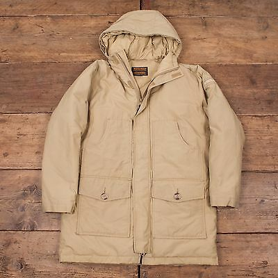 Childrens Vintage Woolrich Down Lined Jacket Coat Beige Cream 12 Years R5026