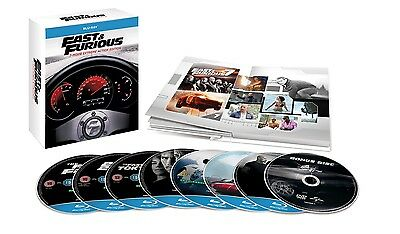 Fast and Furious 1-7 Premium Digibook Collection Blu Ray (Region Free)