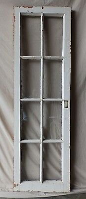 Antique 8 Lite Casement Cupboard Window Cabinet Shabby Vtg Chic 53x16 Old 225-17