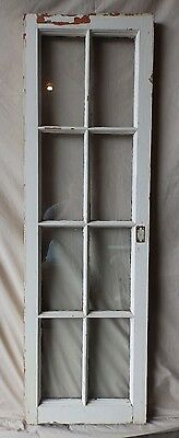 Antique 8 Lite Casement Cupboard Window Cabinet Shabby Vtg Chic 53x16 Old 226-17