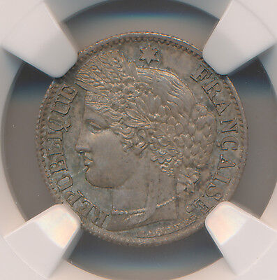 France 50 Centimes 1871A - NGC MS 64