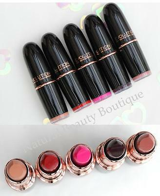 MAKEUP REVOLUTION ICONIC PRO SATIN or MATTE NUDE LIPSTICK LIP COLOUR Rose Gold