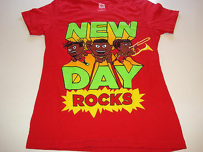 WWE Women's size M Official Merchandise t shirt THE NEW DAY in RED BRAND NEW!